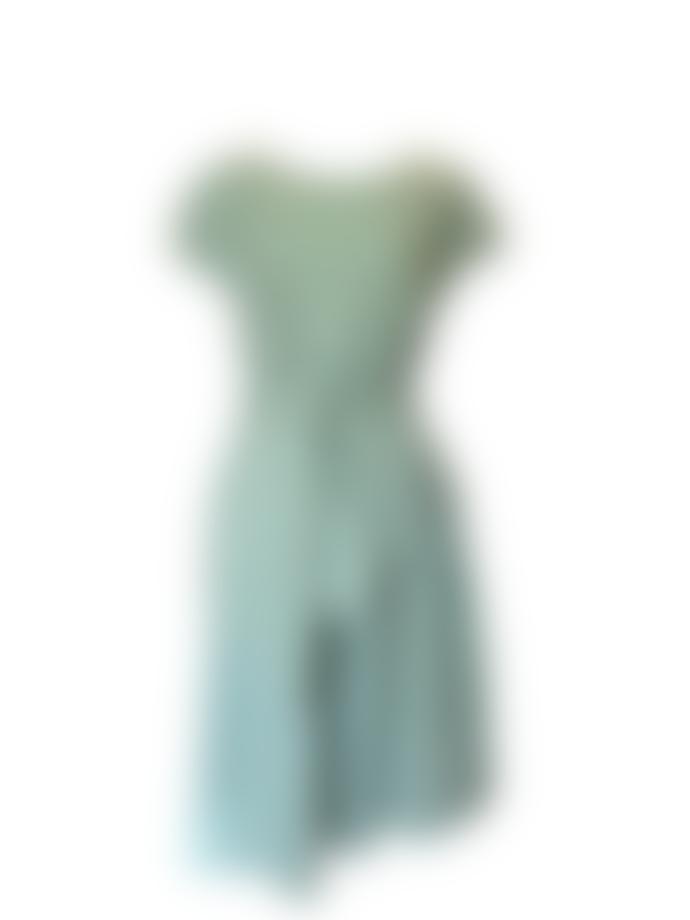 Pomandere Cotton Poplin Dress In Pale Green