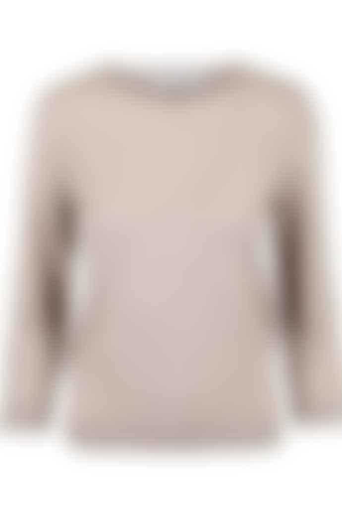 Cathrine Hammel Evening Sweater Taupe Melange Merino Wool