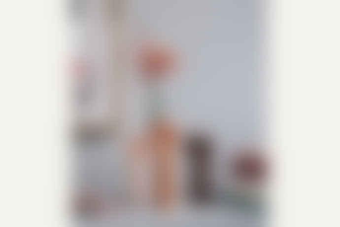 DOIY Design 12.9 x 10.7 x 27.1cm Small White Ceramic Girl Power Vase