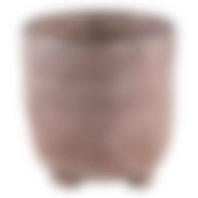 PTMD Small Creed Bronze Ceramic Pot on Foot