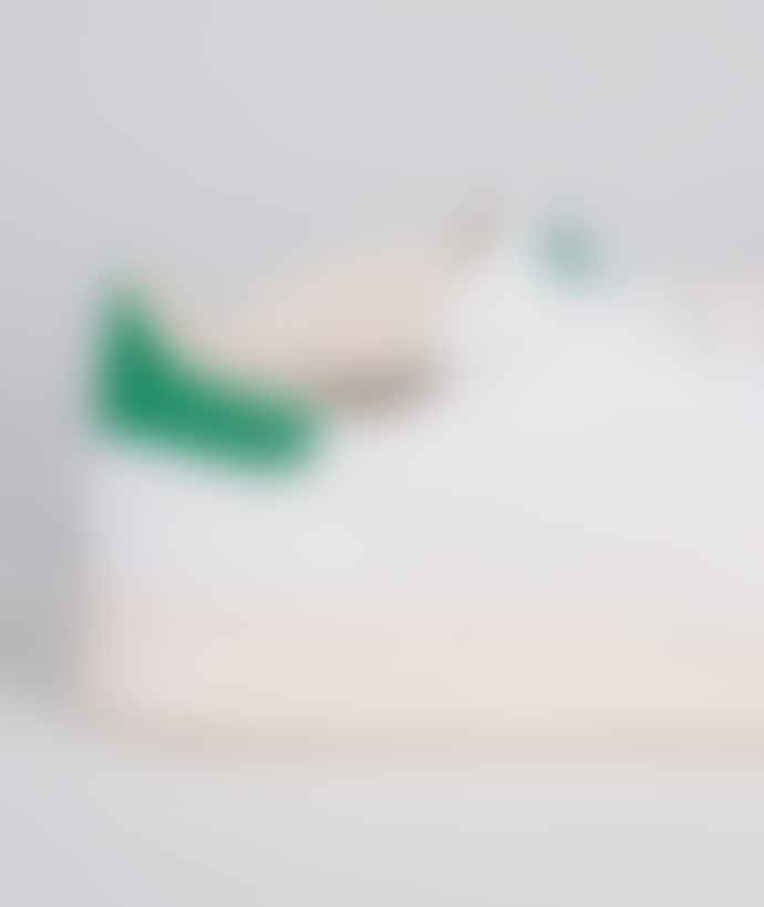 Adidas White and Green Textile Originals Stan Smith OG PK Shoes