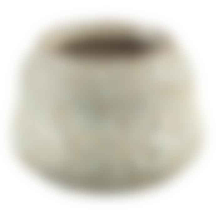 PTMD Small Salty Light Blue/Green Ceramic Coral Pot