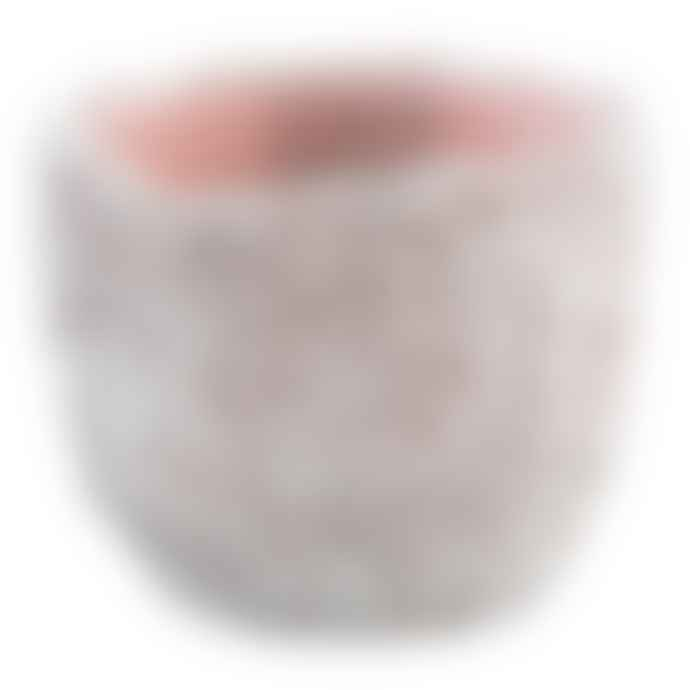 PTMD Medium Navia Pink Cement Coral Effect Pot