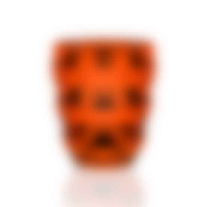 Italesse Bolle Single Tumbler Glass In Orange