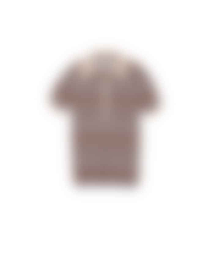 Nanushka Multi Cotton Knit Polo Quinoa Shirt