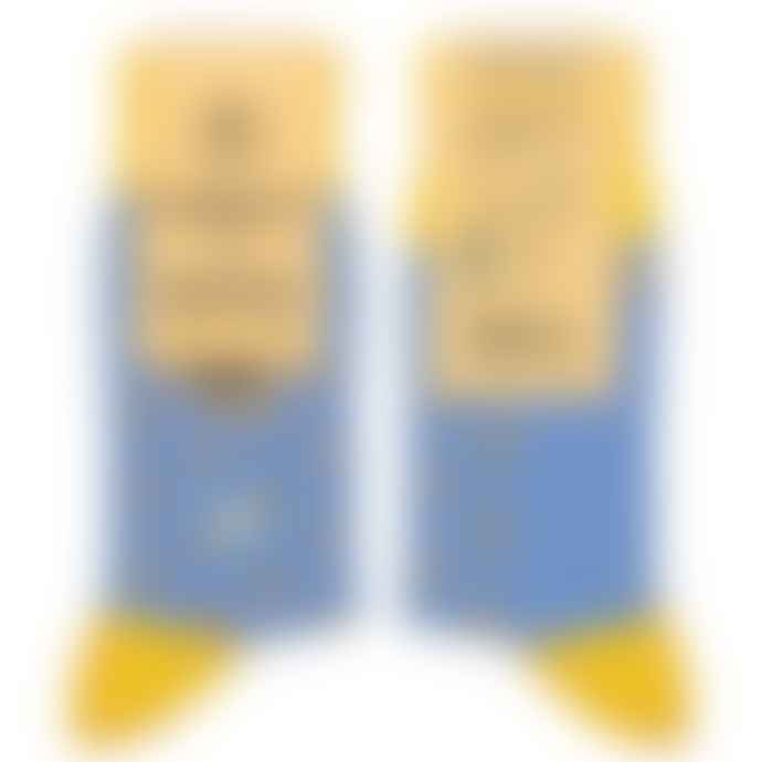 Conscious Step  Socks That Give Books Blue Yellow