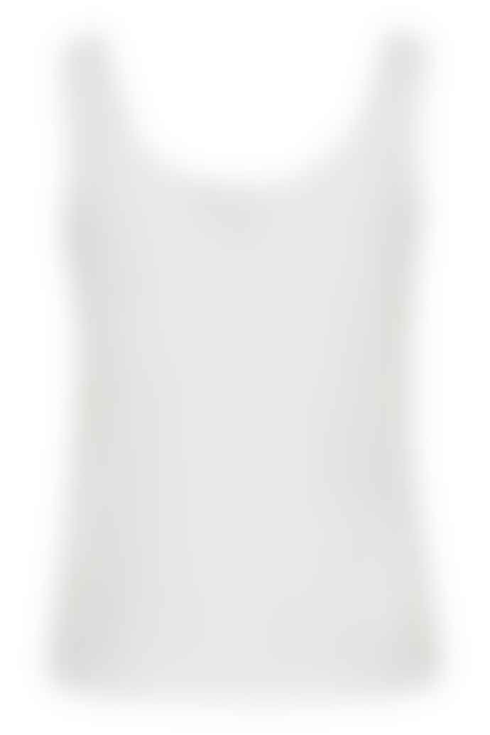 ICHI White Jersey Alabama Top