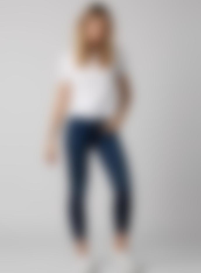 7 For Allmankind 7 Fam High Waist Slim Illusion Luxe Starlight