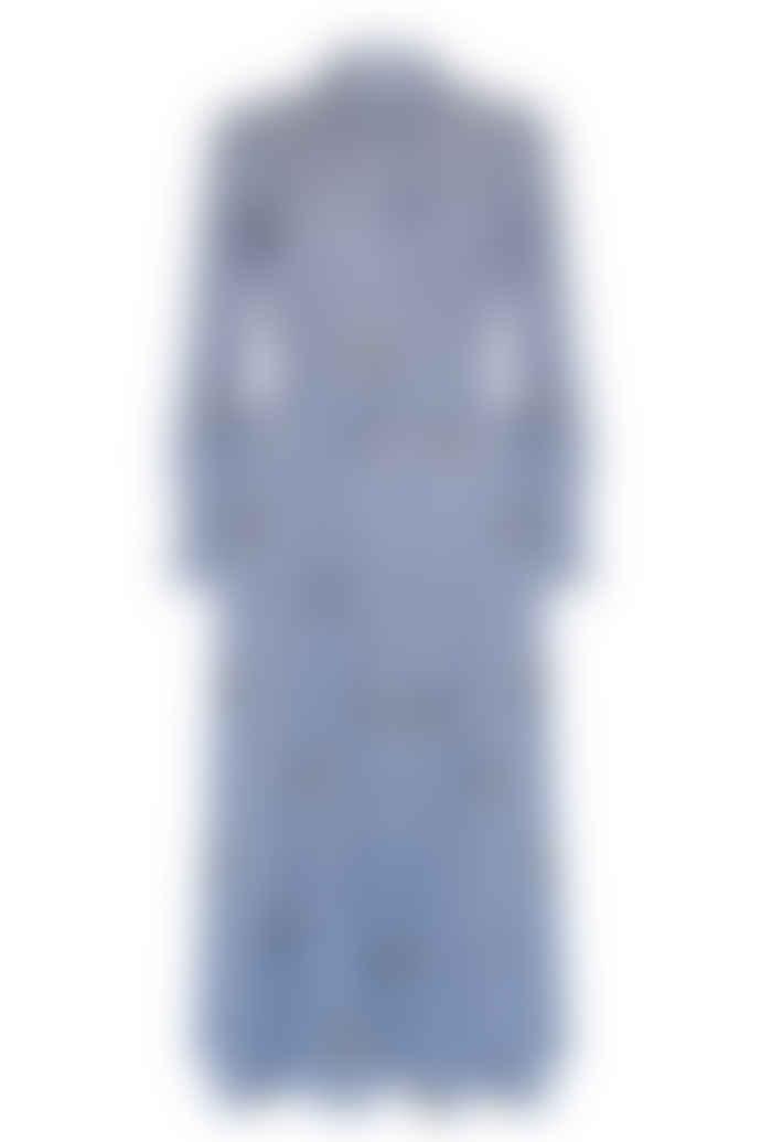 Jovonna London Blue Bryce1 Pineapple Print Dress