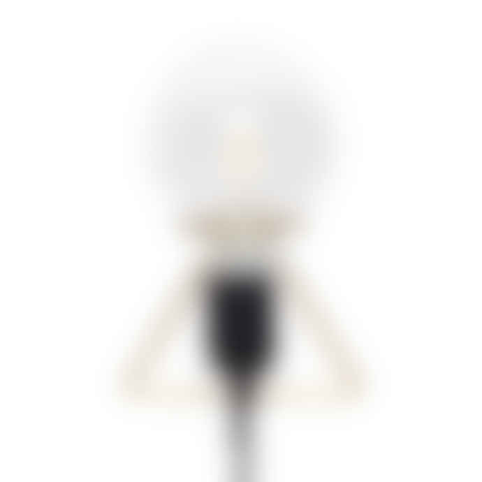 Hubsch Brass Black Wall Lamp