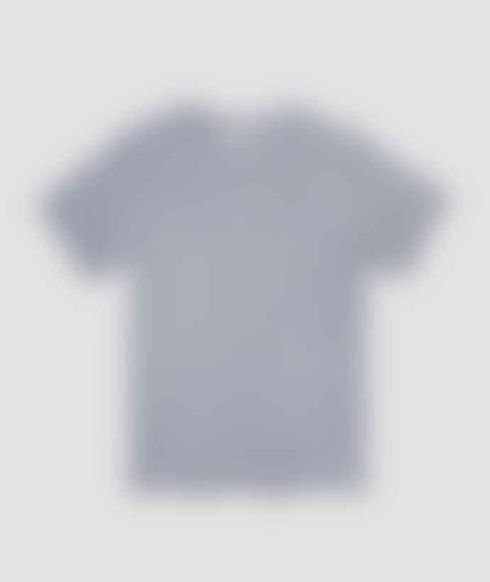Saturdays NYC White Navy Cotton Brandon Feeder T Shirt