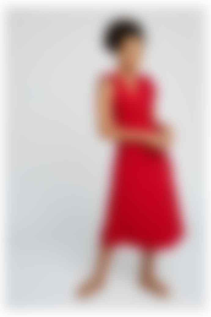 People Tree Melanie Wrap Dress in Red