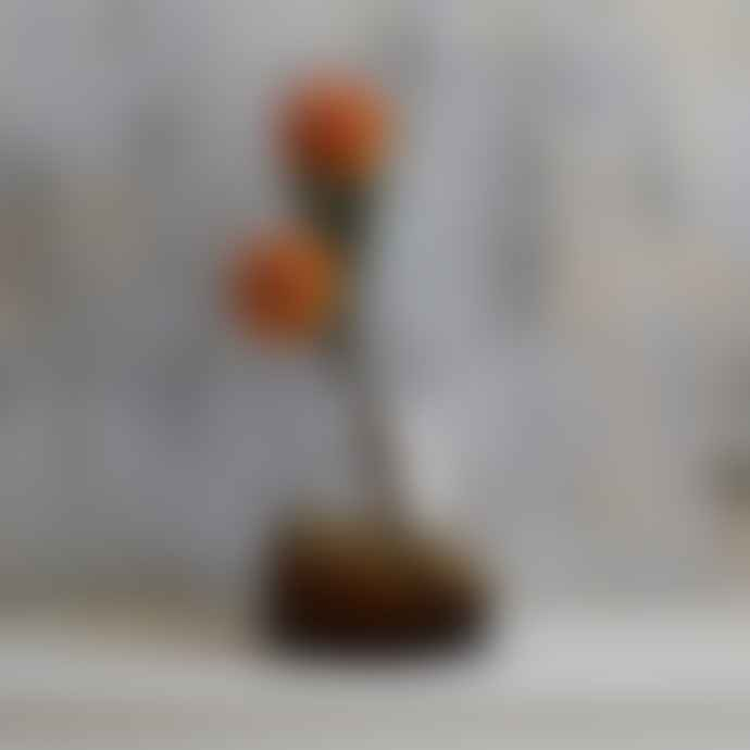 Amber Ombre Glass Vase - Medium