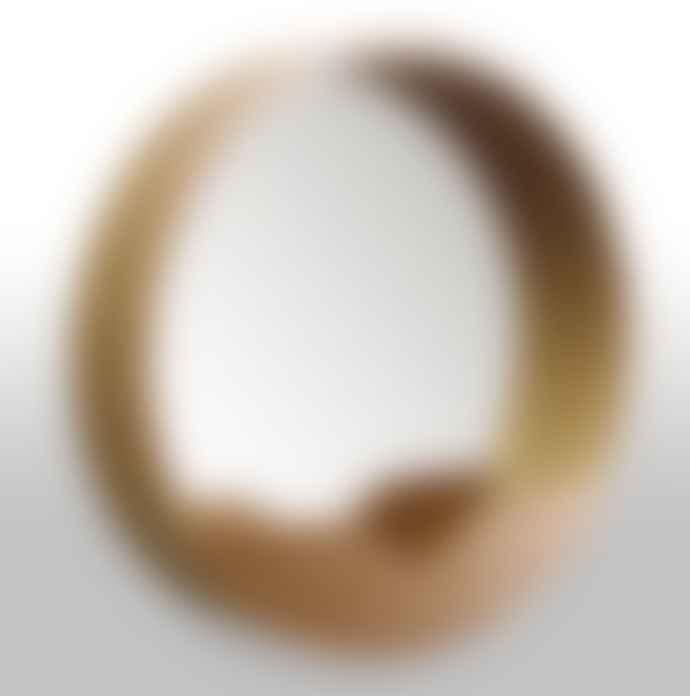 - WOOD MIRROR L (D60cm)