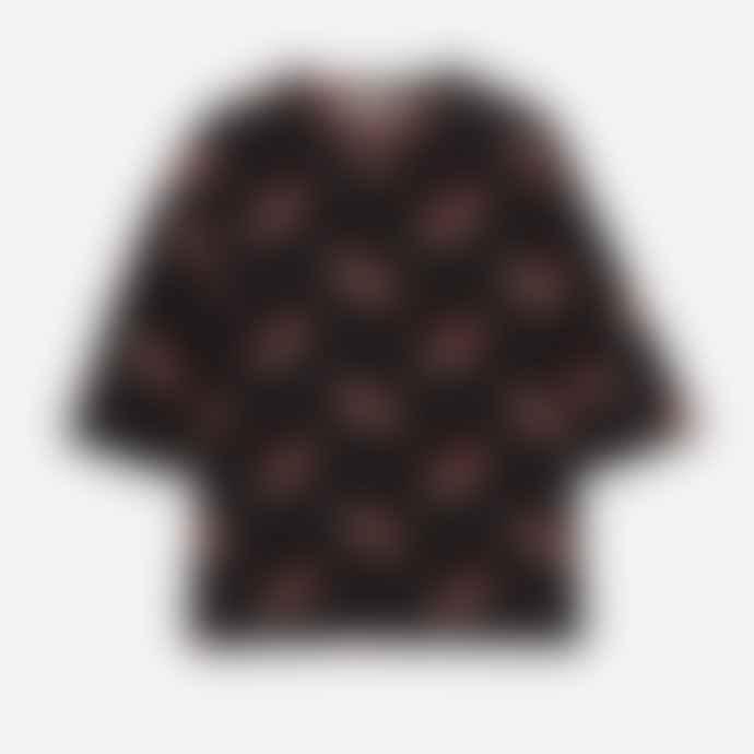 Maison Kitsune Black Lined Shorts Beige
