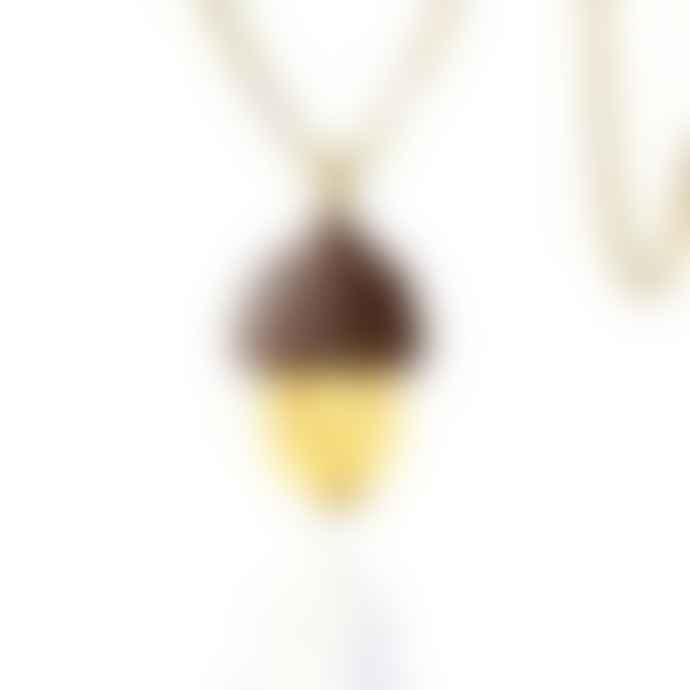 Turina Golden Acorn Necklace
