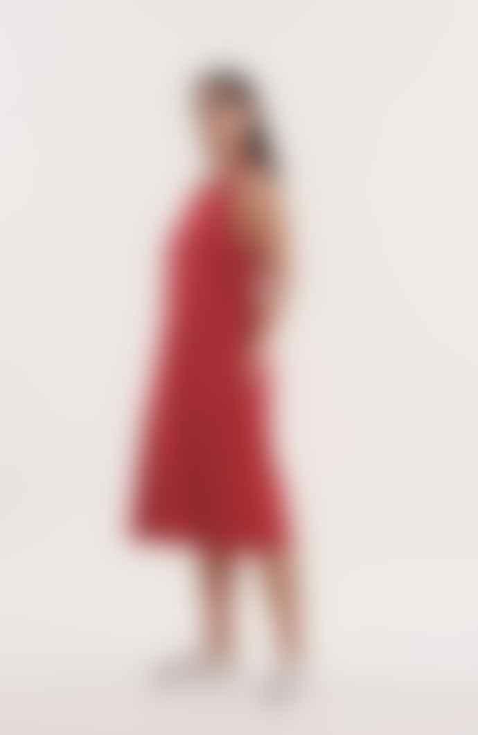YMC Apron Dress Red