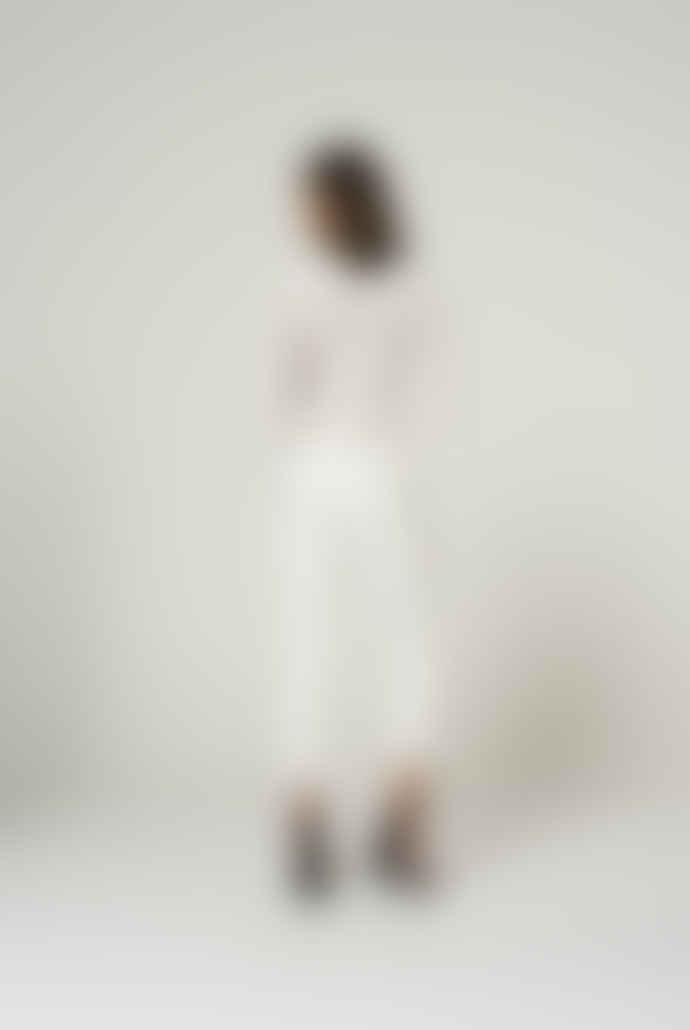 Aaiko Aaiko Chennai white embroidered blouse with lurex details