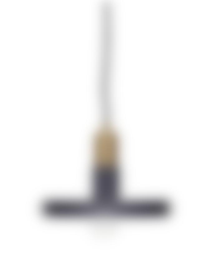 Hubsch Grey and Brass Pendant Lamp