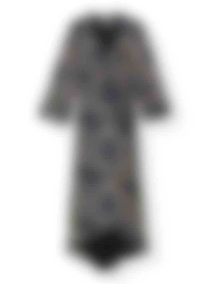 Ganni Floral Georgette Wrap Dress