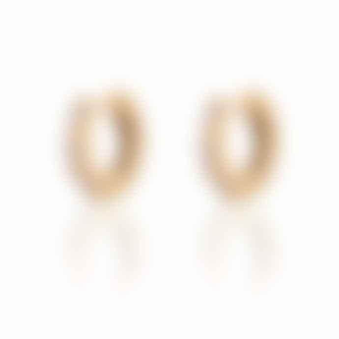 Scream Pretty  Baguette Huggie Earrings Gold