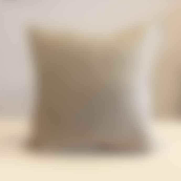 Hannah Bould X Merchant & Mills White Stroke Linen Cushion