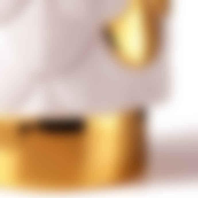 Botteganove Beige Plumage Vase with Golden Details