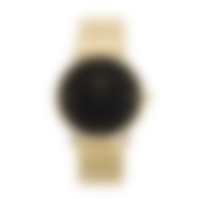 Lund London 39mm Gold Metal Black Face Series 3 Watch with 3 Straps