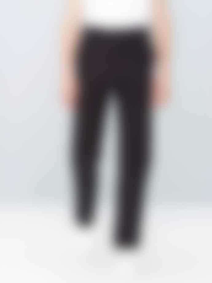 Le Mont St Michel Black Cotton Moleskin Genuine Work Pants