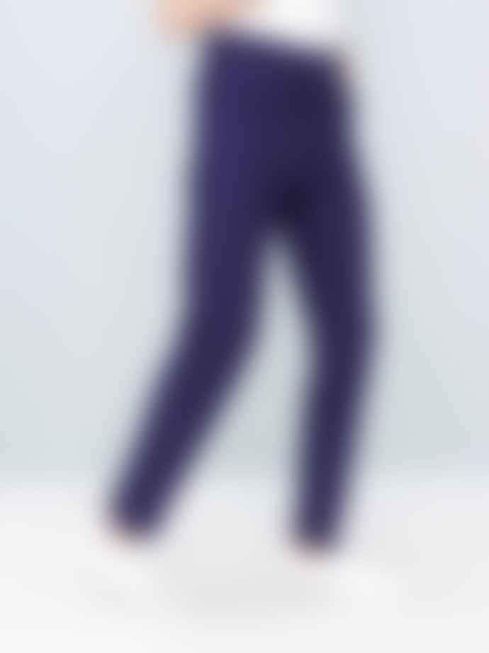 Le Mont St Michel Blue Cotton Moleskin Genuine Work Pants