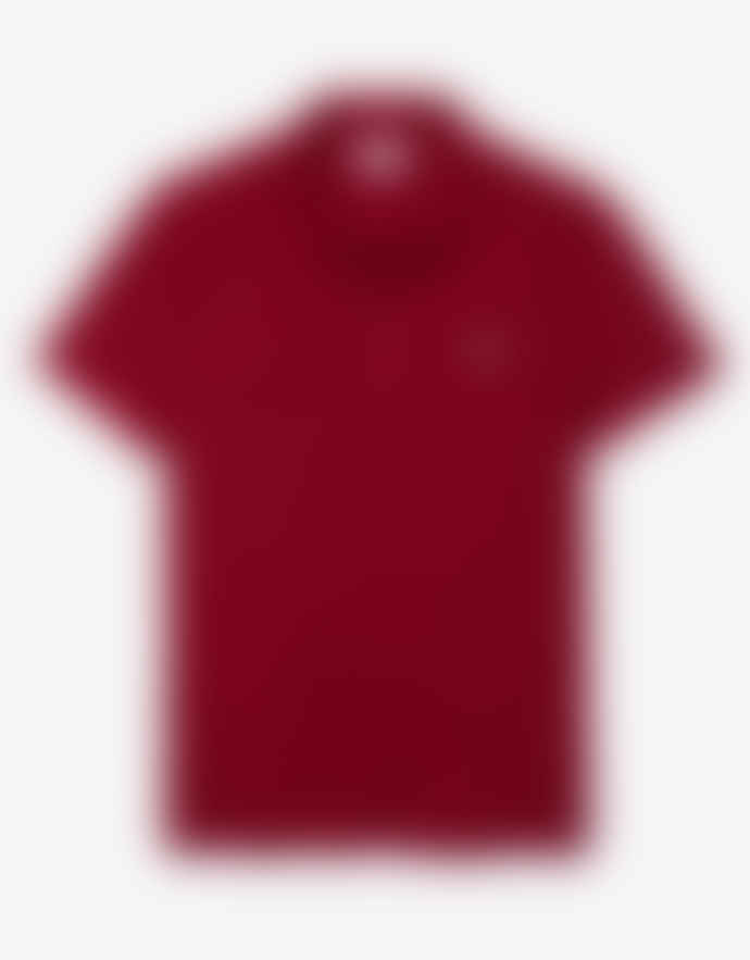 Lacoste Bordeaux Cotton Slim Fit Polo Shirt