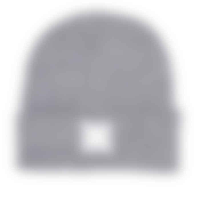 Plain Bear heather grey label beanie