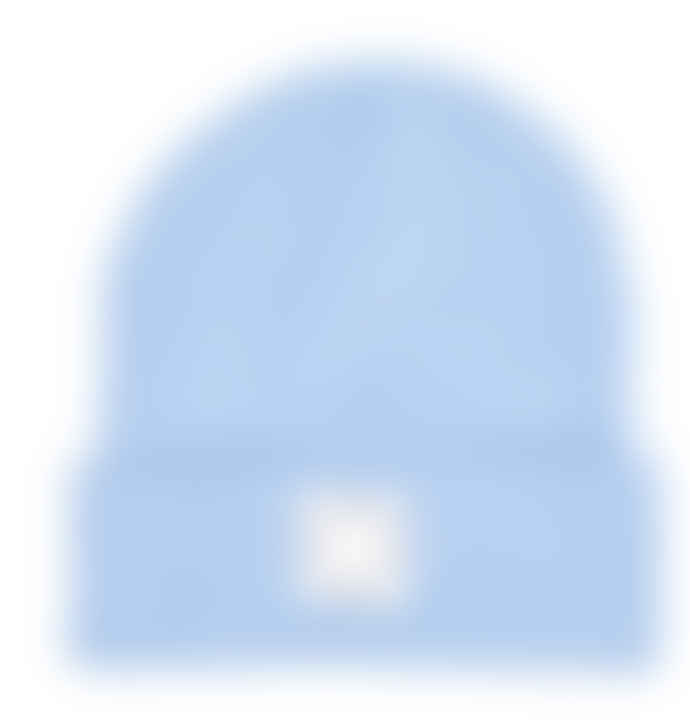 Plain Bear Sky blue label beanie