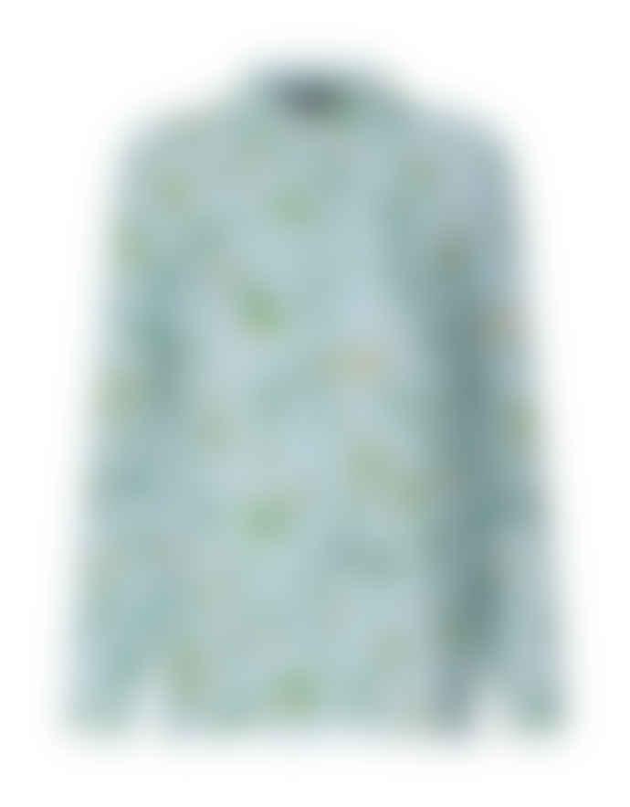 Storm & Marie Light Blue Viscose All Over Print Dakota Shirt