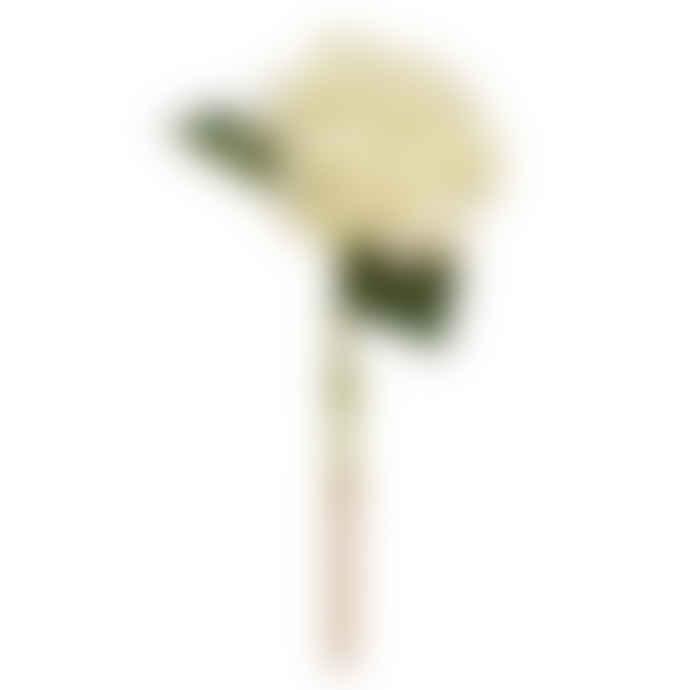 Faux White Hydrangea Stem