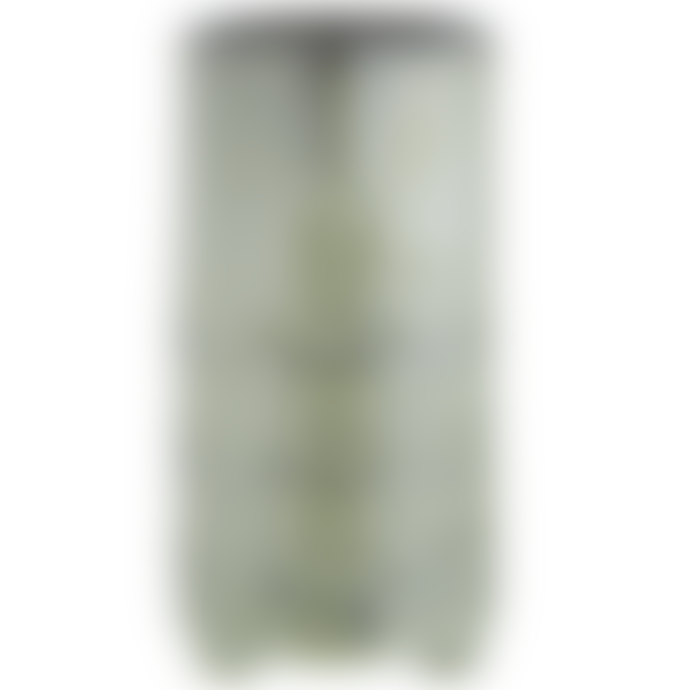 Madam Stoltz Green Stoneware Face Imprint Vase