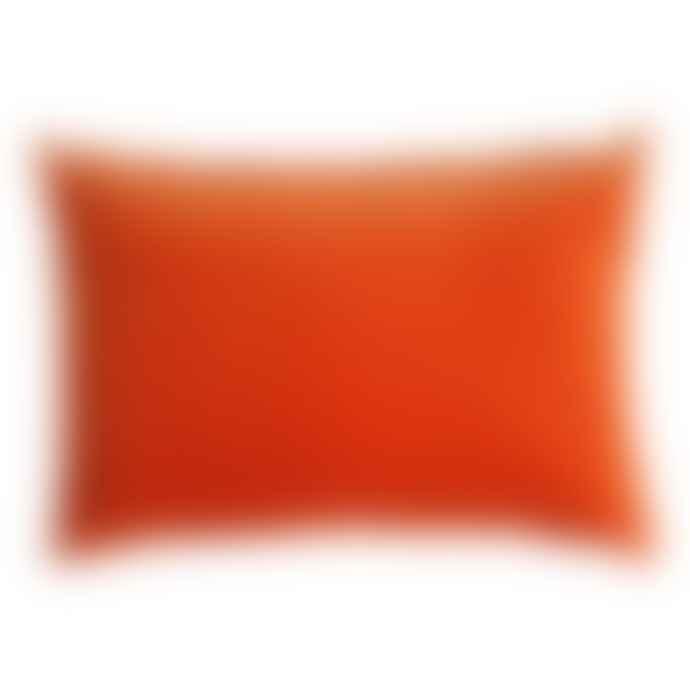 The Hackney Draper Long Tangerine Velvet Cushion