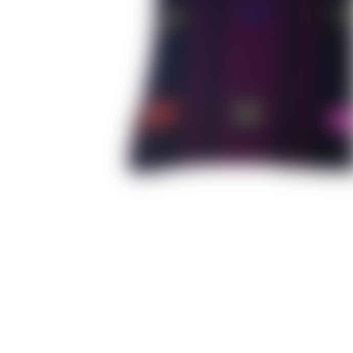 Mahala Purple Tufted Kilim Cushion 40x40cm