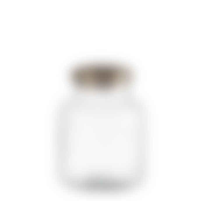 Affari Clear Glass Bella Jar with Metal Lid