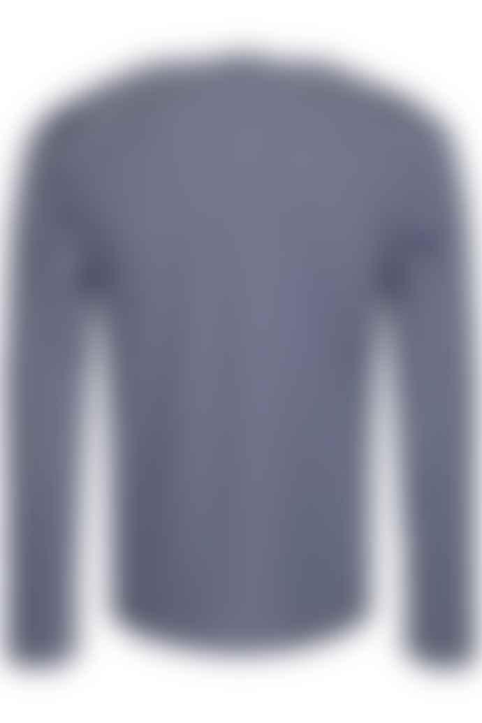 SAINT JAMES Marine and White Cotton Minquiers Modern Authentic Breton Stripe Shirt