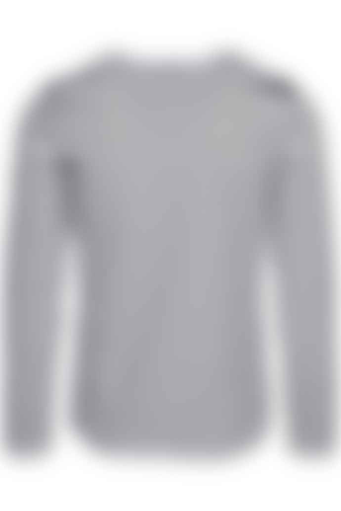 SAINT-JAMES Black and White Cotton Minquiers Modern Authentic Breton Stripe Shirt