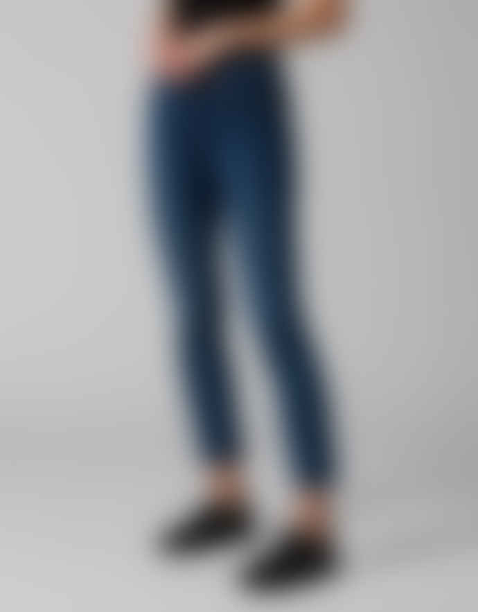 7 For All Mankind  Roxanne Mid Rise Jeans - B(air) Vintage Dusk
