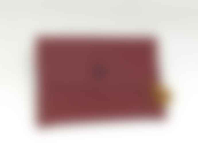Atelier 107 Card-holder big bordeaux leather