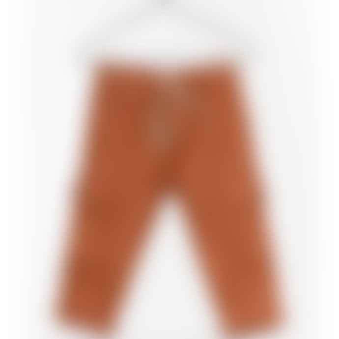 Play Up Linen Cargo Trousers Rust