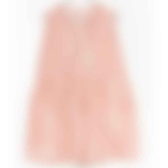 Play Up Rust Cream Striped Sleeveless Dress