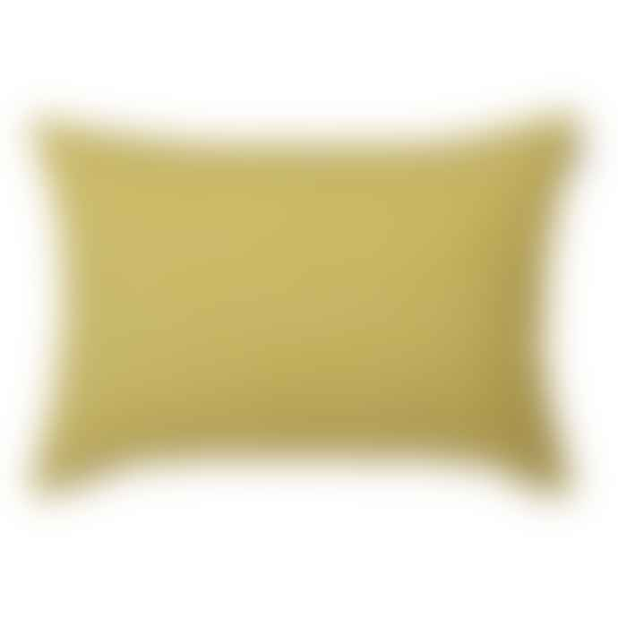Spira of Sweden Mustard Line Cotton Cushion Cover