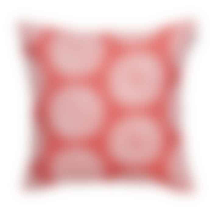 Spira of Sweden Rouge Cotton Lycka Cushion Cover