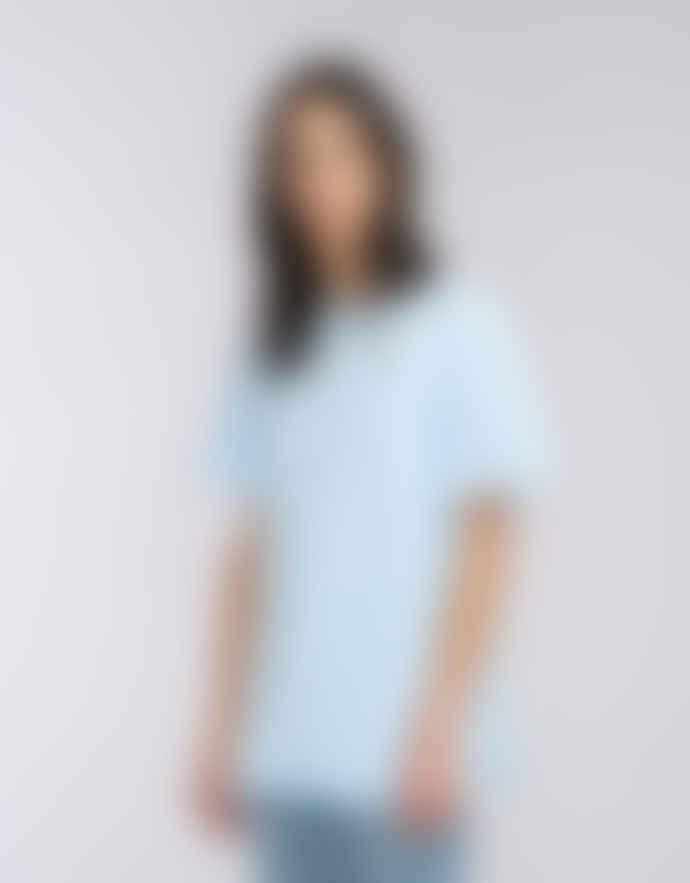 Edwin Cool Blue Cotton Terry T Shirts