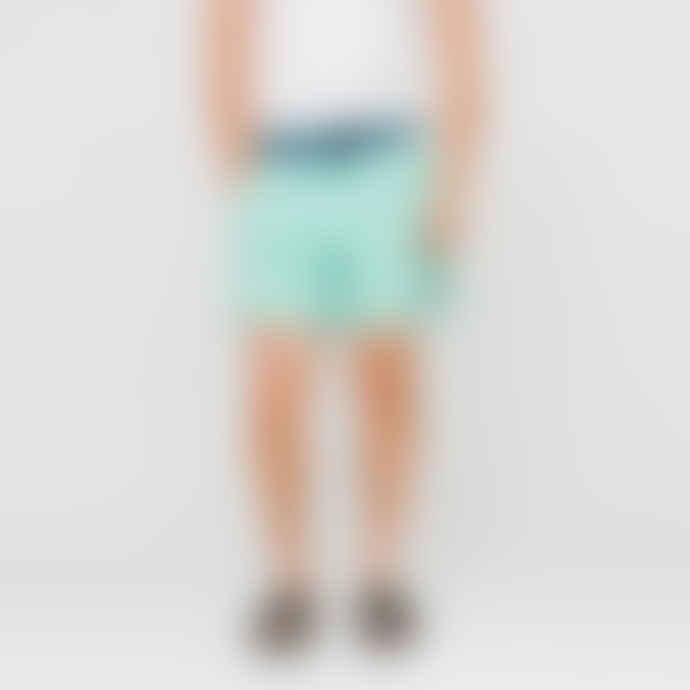 Patagonia Vjosa Green Stretch Wavefarer Volley Swimwear Shorts