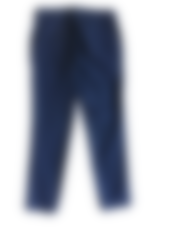 Pomandere Slim Fitting Cotton Trousers Navy